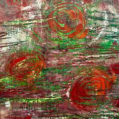 """""""NESOR"""", 100 x 80 cm, Acryl/Mischtechnik auf LW"""