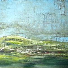 """""""Wolkenland"""""""", 120 x 180cm, Acryl/Mischtechnik auf LW"""