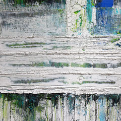 """Wunderkammer"", 100 x 80cm, Acryl/Mischtechnik auf Holzkörper,"