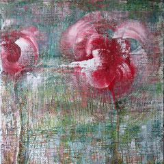 "Lippenblüten"", 140 x 100cm, Acryl/Mischtechnik auf LW"