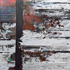 """Klangkörper"", 80x80cm, Acryl/Mischtechnik auf Holzkörper,"