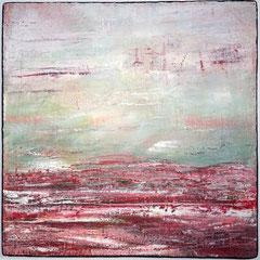 """""""Hauch der Stille"""", 80 80 cm, Mixed Media auf LW"""