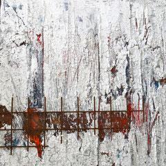 """""""Armadura"""", 80 x 80cm, Acryl/Mischtechnik auf Holzkörper"""