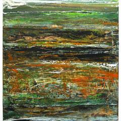 """Caldera I"", 59 x 44 cm, Acryl/Mischtechnik auf Acrylglas"