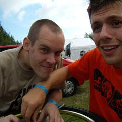 Benne und Daniel vor dem Start in Duisburg
