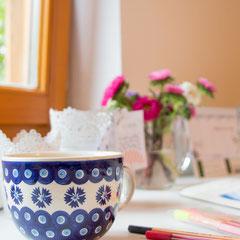 Eine schöne, große Tasse Chai-Tee - bei diesem Wetter ein Muss