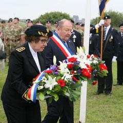 Laurence Beguin, Sous-Préfète et Jean-Pierre Lachèvre, Maire