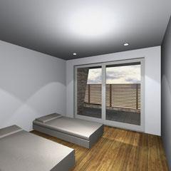 別荘 プランニング3D- 客室 ゲストルーム