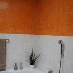 Orange Stuccowand Veneziano
