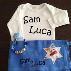 "Geschenkset Deluxe Body weiss Beispiel ""Sam Luca"" Fr. 35.--"