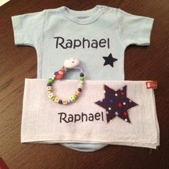 """Geschenkset Deluxe Body hellblau Beispiel """"Raphael"""" Fr. 35.--"""