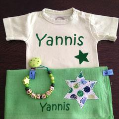 """Geschenkset Deluxe Body pastellgrün Beispiel """"Yannis"""" Fr. 35.--"""