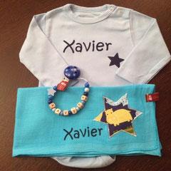 "Geschenkset Deluxe Body hellblau Beispiel ""Xavier"" Fr. 35.--"