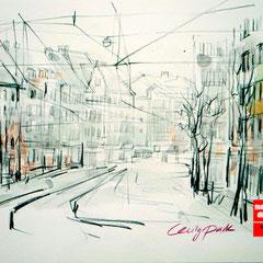 Architektur skizze, Architekturz eichnen für Fortgeschrittene, Zeichnen Architektur, Mappenkurs Düsseldorf
