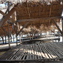 Kleine Strandhütte im Norden der Inselgruppe.