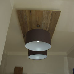 Lampen mit Eichendiele rustikal hell
