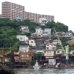 長崎ならではの町並み