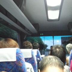 バスの中、お~こうたんさん発見(^^♪