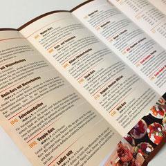 Grillschule: Grafik und Druck, Faltprospekt, 10-seitig