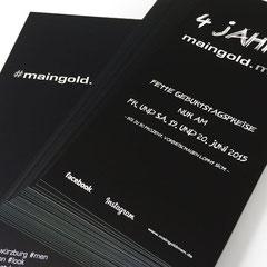 Maingold men - Flyer (Grafik/Druck)