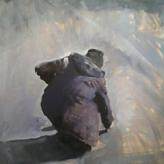 Sans titre Huile sur toile  120 cmx 90 cm  2014 collection privée