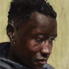Mamadou 35 x 25 cm huile sur toile 2020 Collection privée