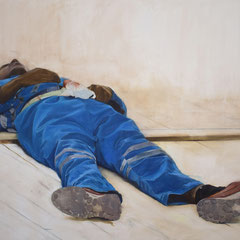 Sans titre Huile sur toile  114 cm x 161 cm  2017 collection privée