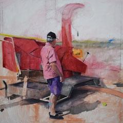 Sans titre Huile sur toile  200 cm x 200 cm  2017