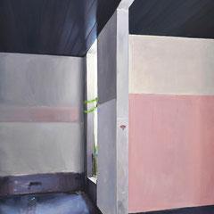 Entre les murs Huile sur toile  114 x 146 cm 2018 Collection privée