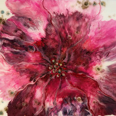 """""""RUBY HIBISCUS""""  (11x14 on traditional canvas)  SOLD"""