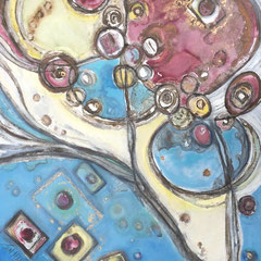 """BUBBLE CHAMBER TRAILS""   (30x40)  $2000"