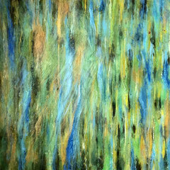 """BAMBOO TRANCED""   (18X18 on finished 1.5"" deep cradle wood panel)   Exclusively at Wertheim Contemporary (808) 573-5972"