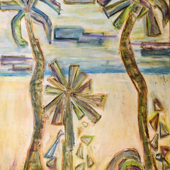 """WHITE SANDY BEACH"". (30X24) $2500"
