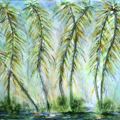 """BAMBOO HULA II"" (16x20 on 1.5"" gallery canvas)  $1100"