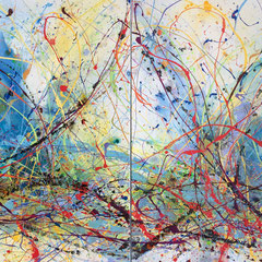 """THE LIGHTNING PATH""  (diptych)  40X60  SOLD"