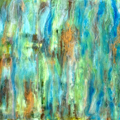 """""""JUNGLE RAINS""""   (12X12 on finished 1.5"""" deep cradle wood panel)   Exclusively at Wertheim Contemporary (808) 573-5972"""