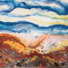 """""""THE EDGE OF DREAMING I""""  (16x20 on finished 1.5"""" deep cradle wood panel)  SOLD"""