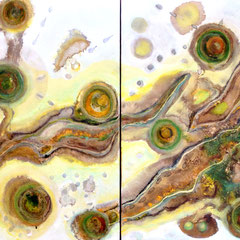 """MENEHUNE'S TRAIL""  (diptych)  24X48  SOLD"