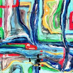 """MY WATERFALL HIKE II""  (11x14 on traditional canvas) NFS"
