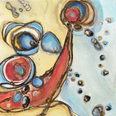"""""""COSMIC GIGGLE""""  (30x30)  $1600"""