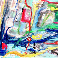 """""""MY WATERFALL HIKE I""""  (11x14 on traditional canvas) NFS"""