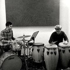 P&K;-) Percussion, during their performance in the exhibition: Del Diabolico Perseverare - Party: l'arte da ricevere, 2017