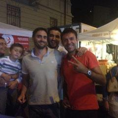 Esposito jr in braccio a mamma, Emanuele Galli, Fabio Esposito e Stefano Pezzana...