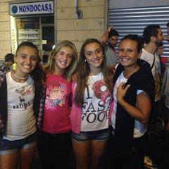 le ragazze dell'Under 14 con la loro allenatrice Monica Biella...