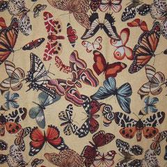 Polsterstoff mit Schmetterlingsmotiven