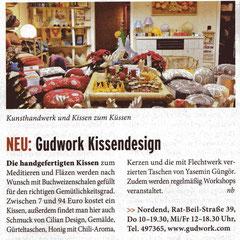 """aus Journal Frankfurt, Nr. 1-2-2013, Seite 27  Neuvorstellung in der Rubrik """"SHOPPING"""""""