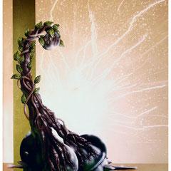 """""""Miteinander"""" - Honsar - Acryl-Mischtechnik auf Leinwand - 60 x 80 cm - 2009 – verkauft / SOLD"""