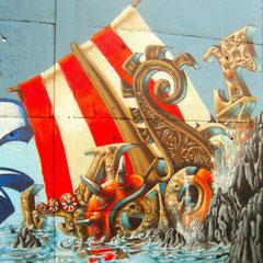 Honsar - Walldesign in Wiesbaden - Vikings ahead!