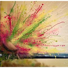 """Frühlingserwachen"" - Honsar - Acryl-Mischtechnik auf Leinwand - 100 x 80 cm - 2009 – verkauft / SOLD"