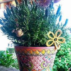 Blumentopf aus Keramik in Pastell